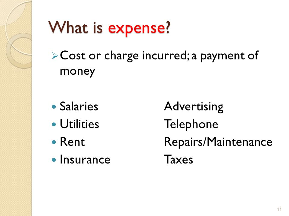 What is expense.