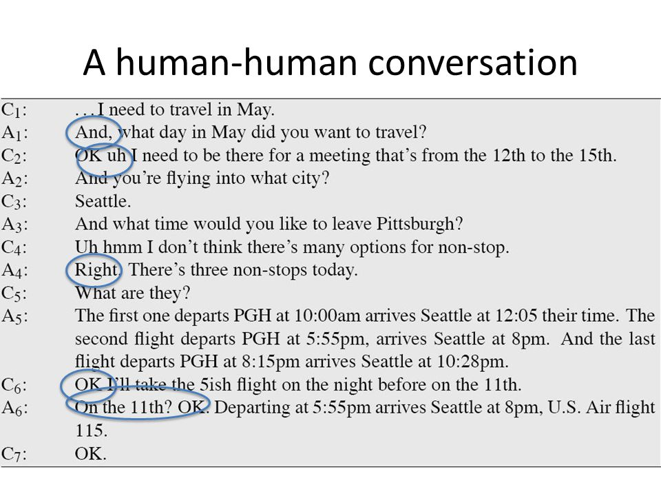 A human-human conversation