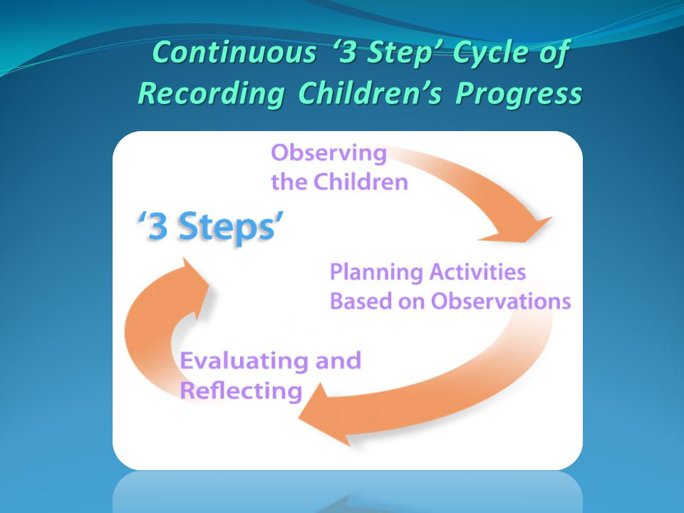 Continuous '3 Step' Cycle of Recording Children's Progress