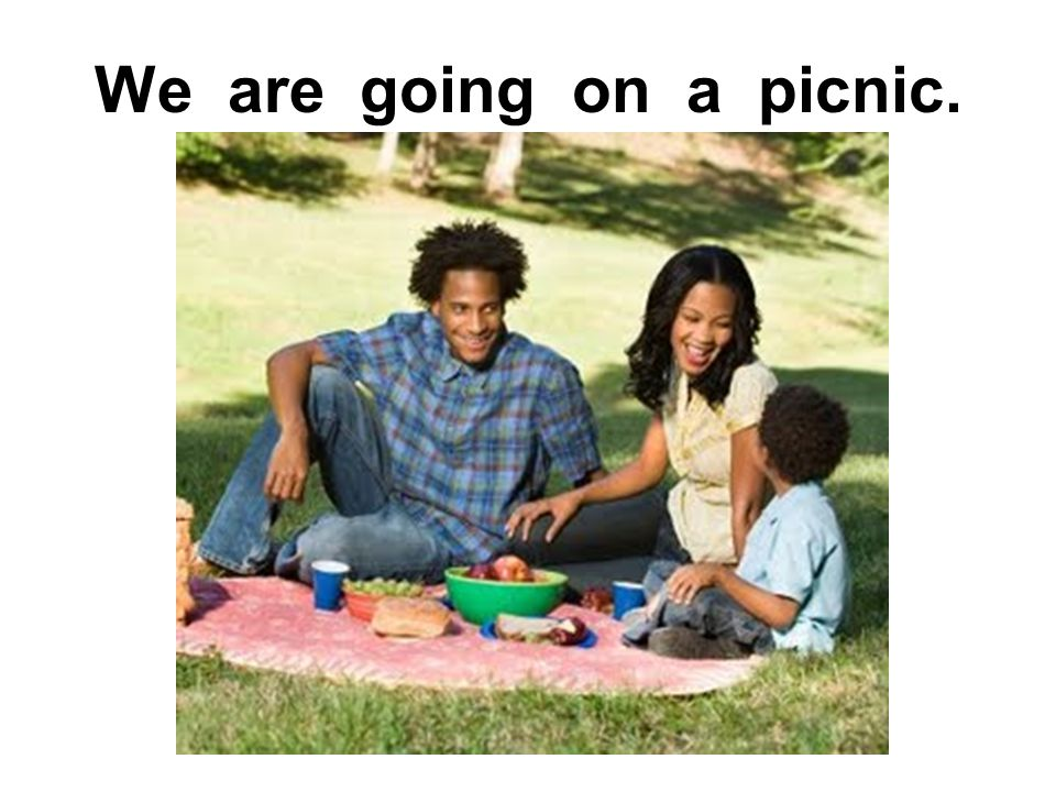 We are going on a picnic.