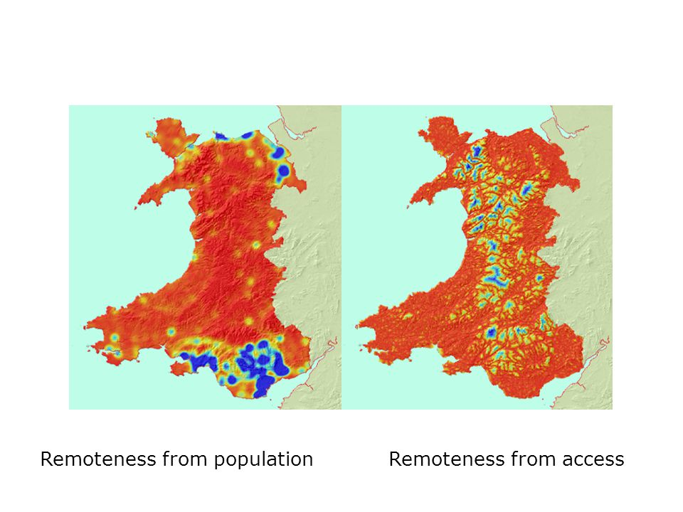 Remoteness from populationRemoteness from access