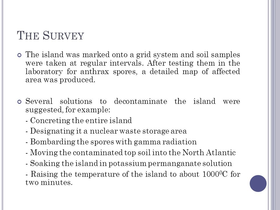 O PERATION D ARK H ARVEST 1981 In 1981, Dark Harvest took samples of the contaminated soil from Gruinard and left one package of it at Porton Down; while another in Blackpool, where the ruling Conservative Party was holding its annual conference.