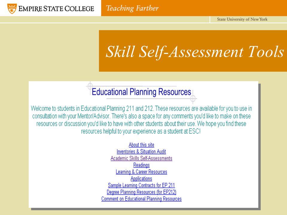Skill Self-Assessment Tools