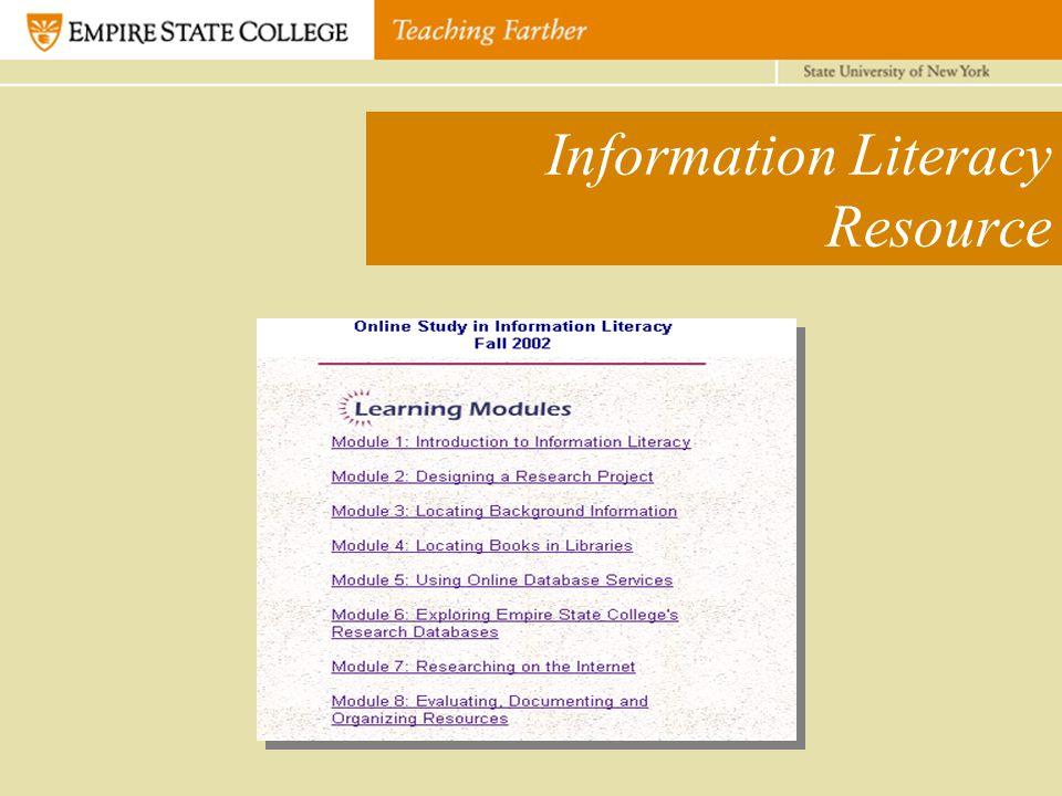 Information Literacy Resource