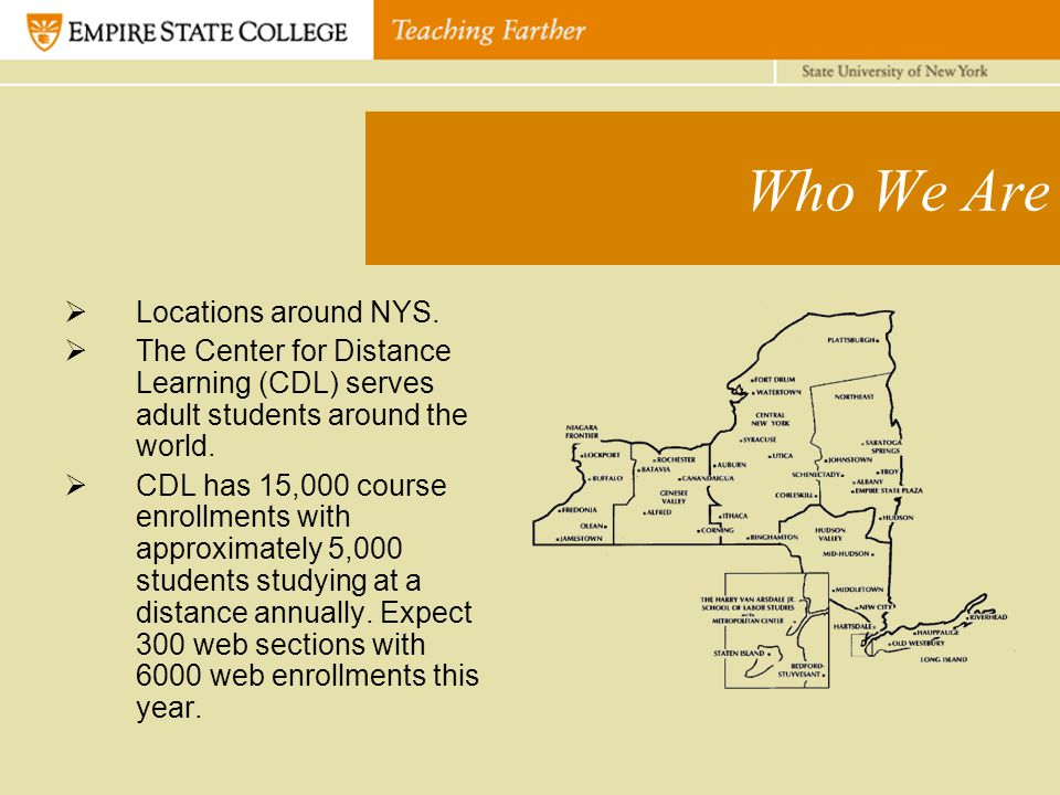 Who We Are  Locations around NYS.