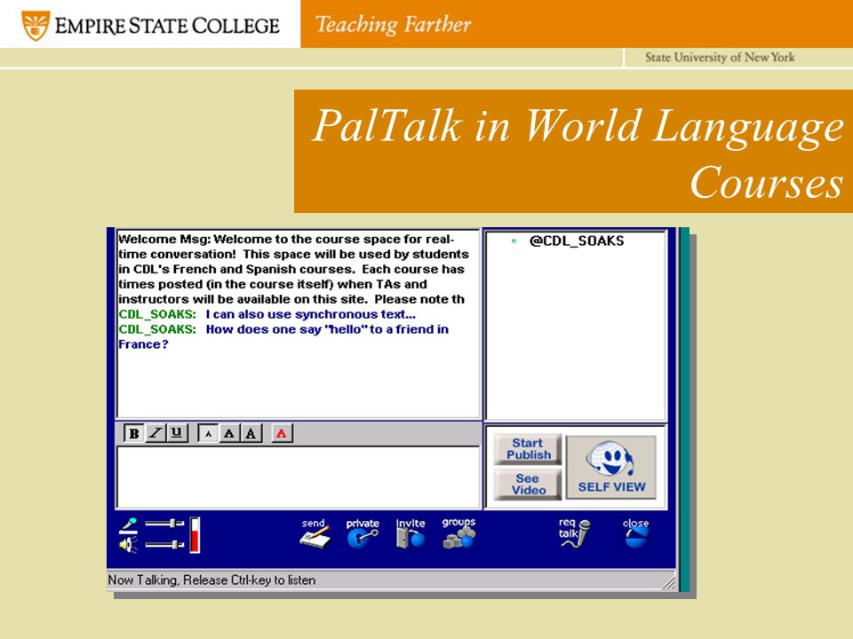 PalTalk in World Language Courses