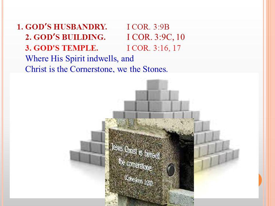 1. GOD'S HUSBANDRY.I COR. 3:9B 2. GOD'S BUILDING.