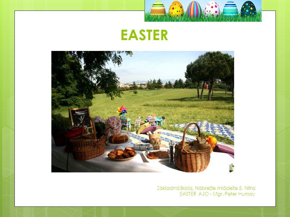 EASTER Základná škola, Nábrežie mládeže 5, Nitra EASTER AJO - Mgr. Peter Humay