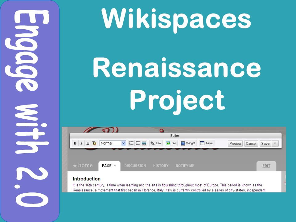Wikispaces Renaissance Project