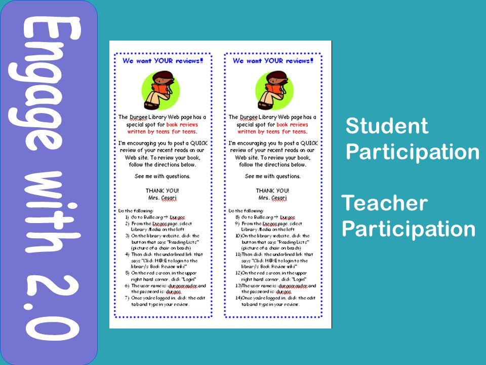 Student Participation Teacher Participation