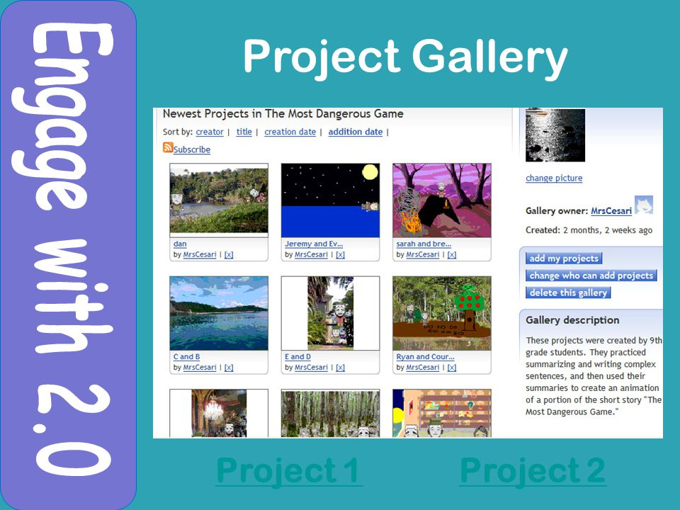 Project 1Project 2 Project Gallery