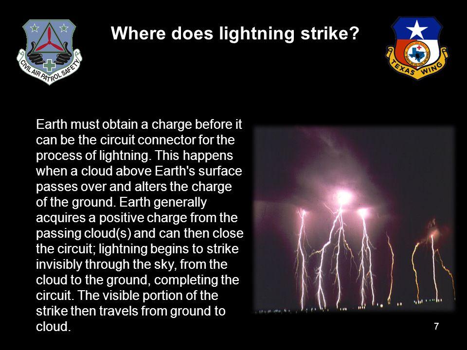 Where does lightning strike.