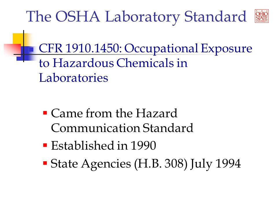 The OSHA Laboratory Standard Inspections