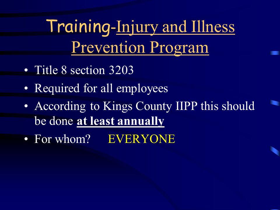 Because I m OSHA and I said so! Why do I have to train