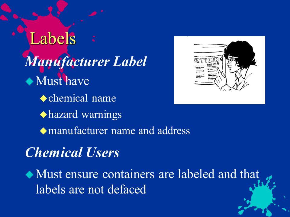 Compressed gases u Chemical hazards u Flammable- Oxidizer u Toxic- Corrosive u Inert u High Pressure