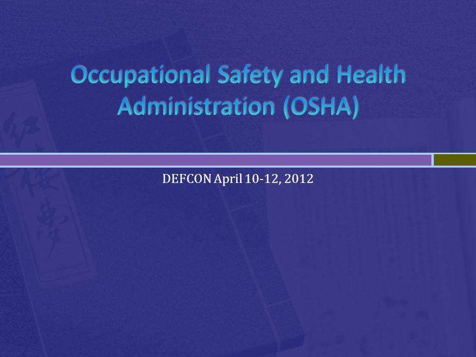 DEFCON April 10-12, 2012