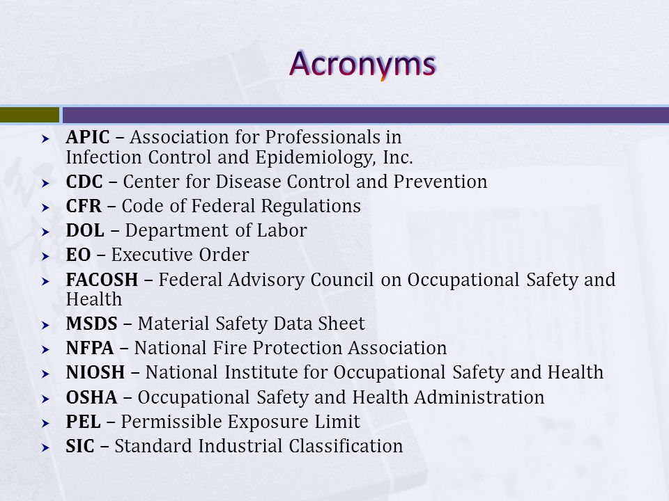  APIC – Association for Professionals in Infection Control and Epidemiology, Inc.