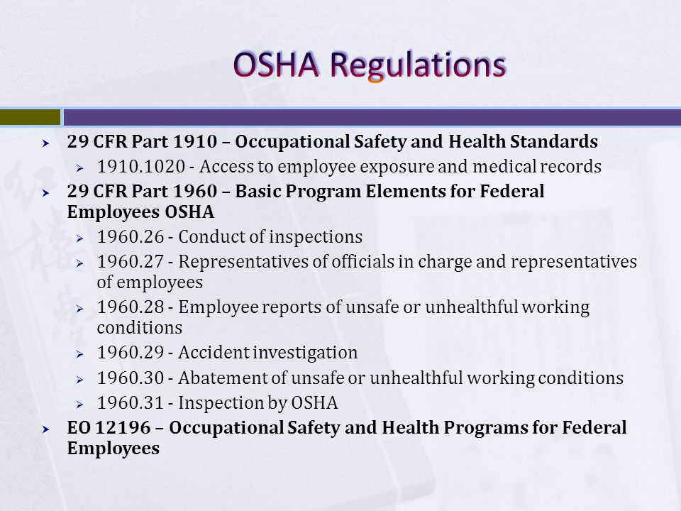 (a) Each employer -- (1) shall furnish to each of his employees employment and a place of employment which are free from recognized hazards that are causing or are likely to cause death or serious physical harm to his employees; (2) shall comply with occupational safety and health standards promulgated under this Act.