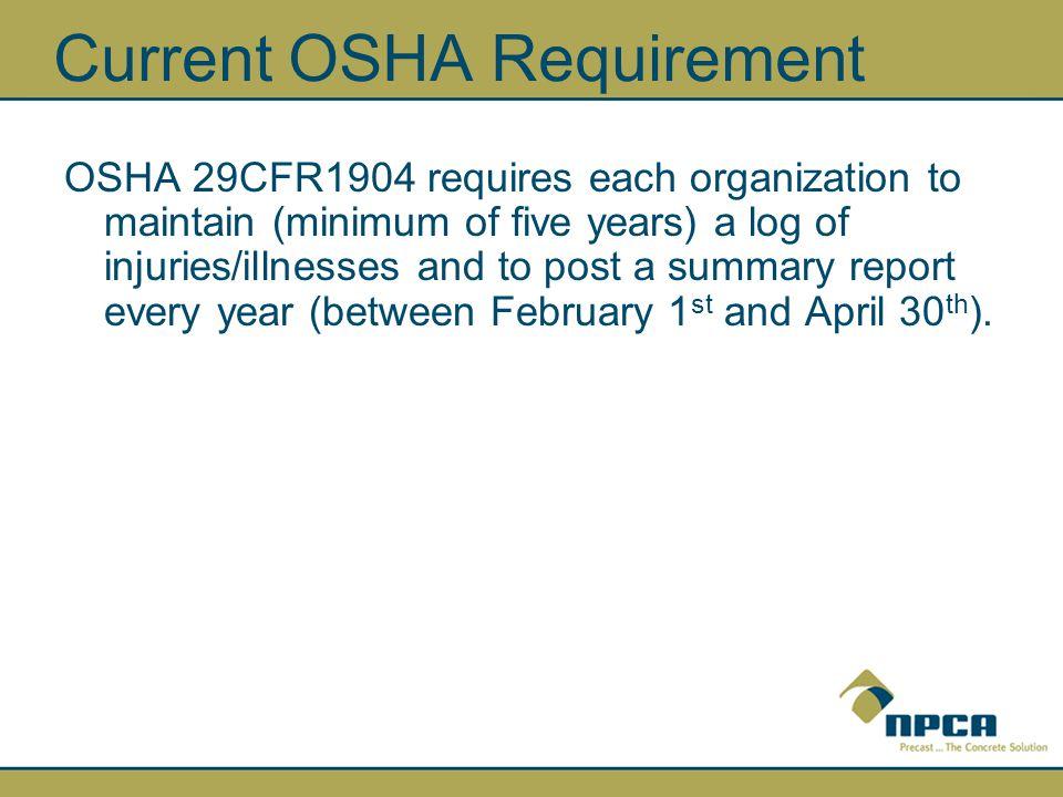 Forms you will need… You will need a blank OSHA 300 Log form… http://www.osha.gov/recordkeeping/new-osha300form1-1-04.pdf