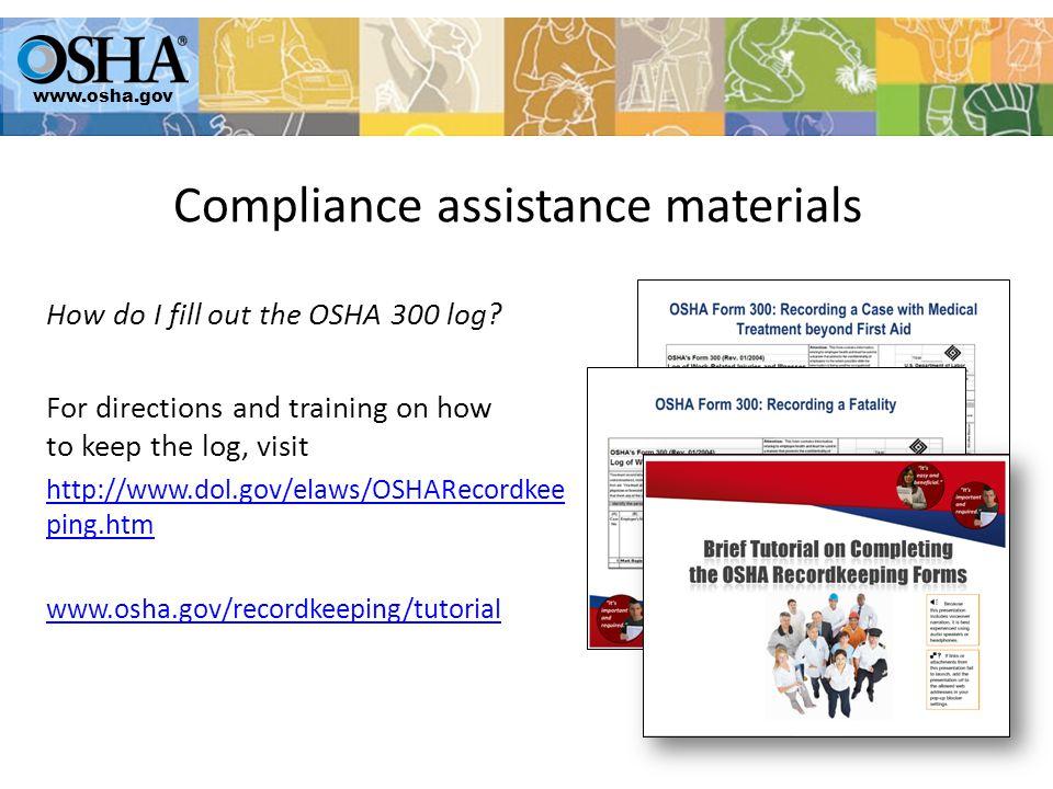 How do I fill out the OSHA 300 log.