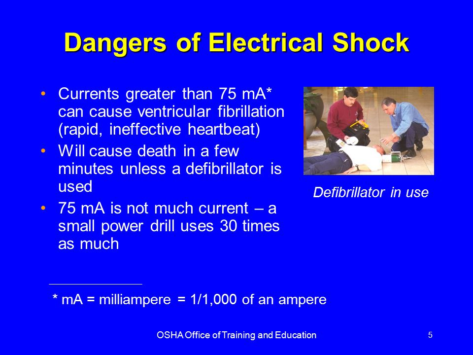 OSHA Office of Training and Education 16 Some Examples of OSHA Electrical Requirements....