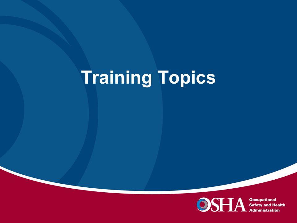 Training Topics