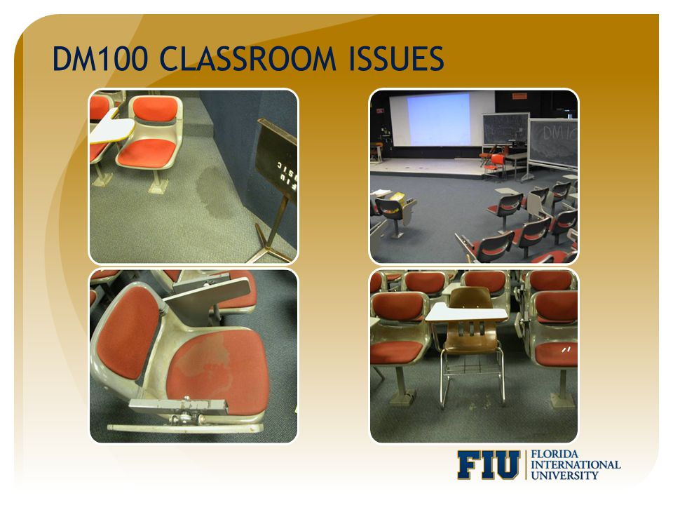 DM100 CLASSROOM ISSUES