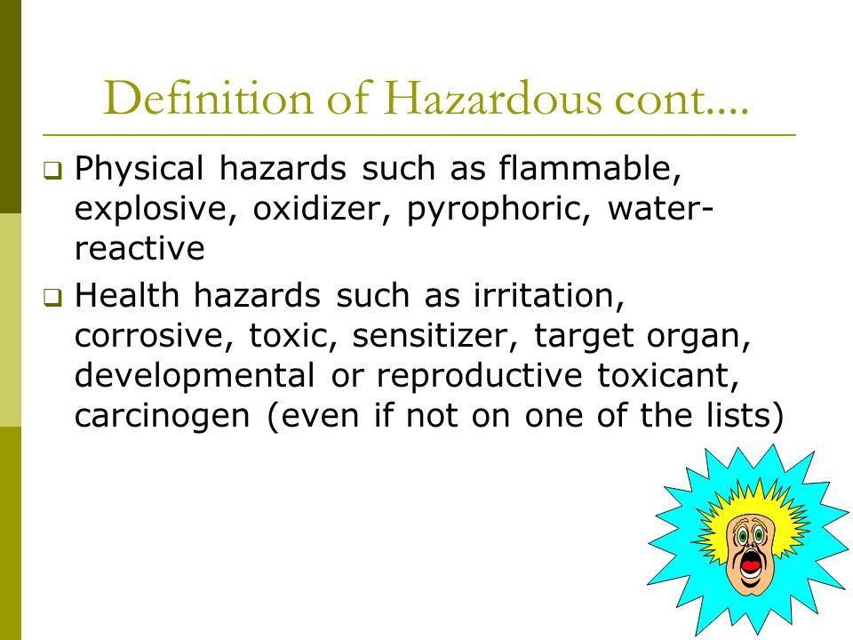 What Is Hazardous.