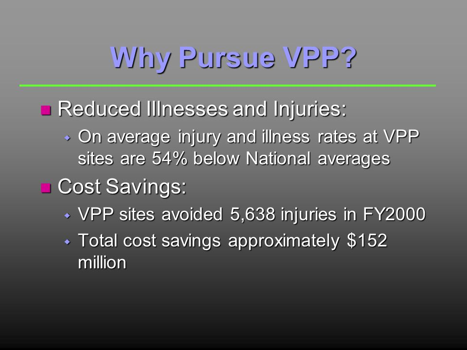 Why Pursue VPP.