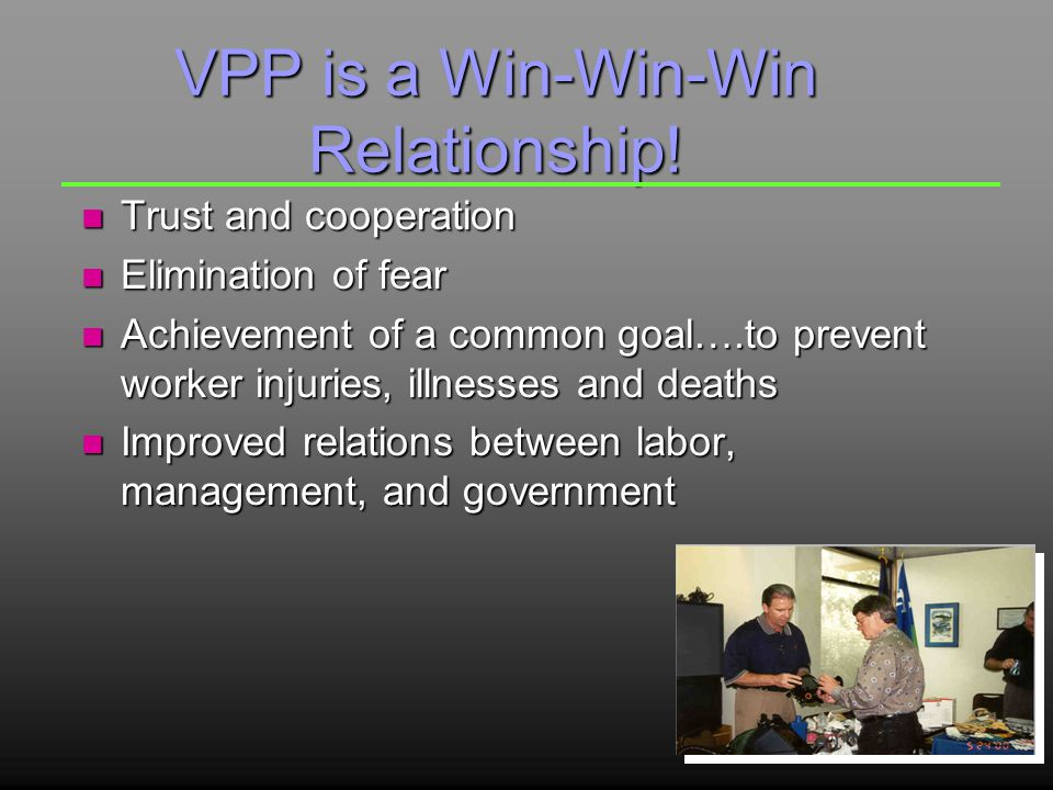 VPP is a Win-Win-Win Relationship.