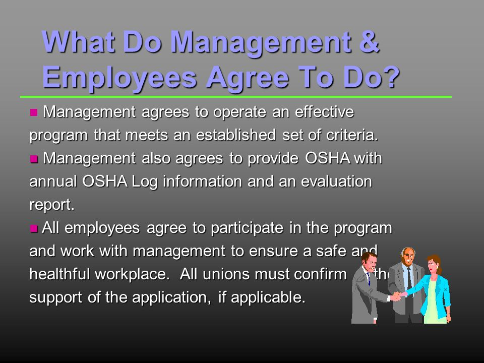 What Do Management & Employees Agree To Do.