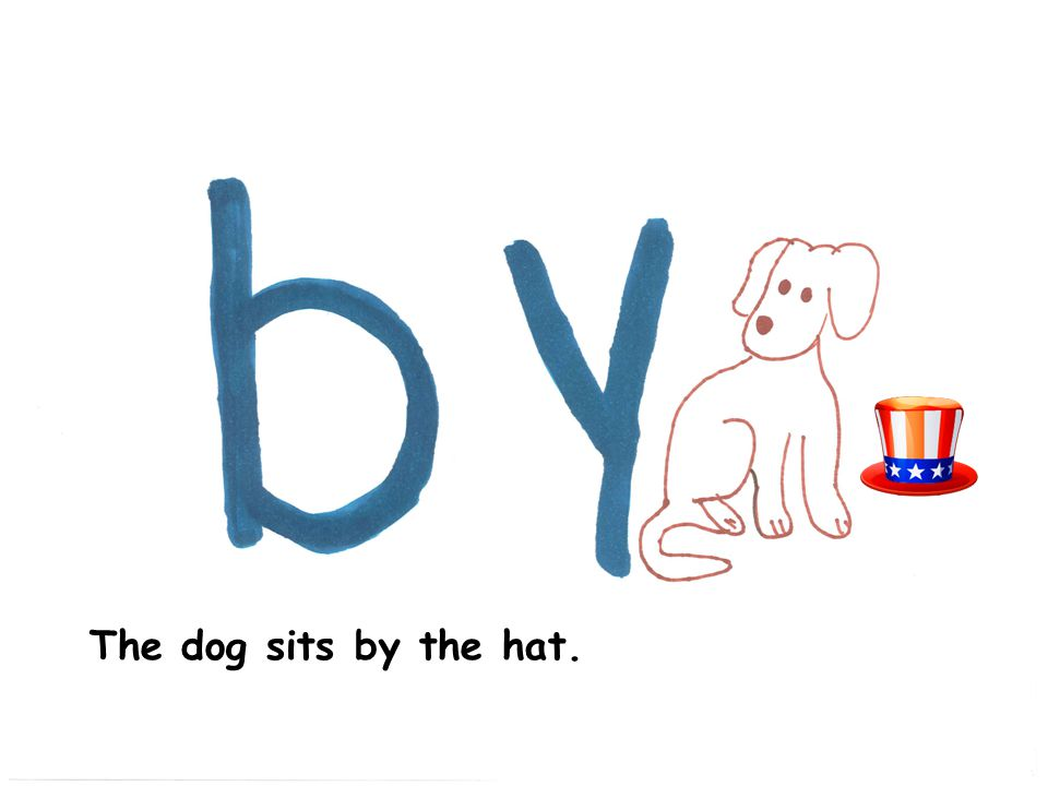 The dog sits by the hat.