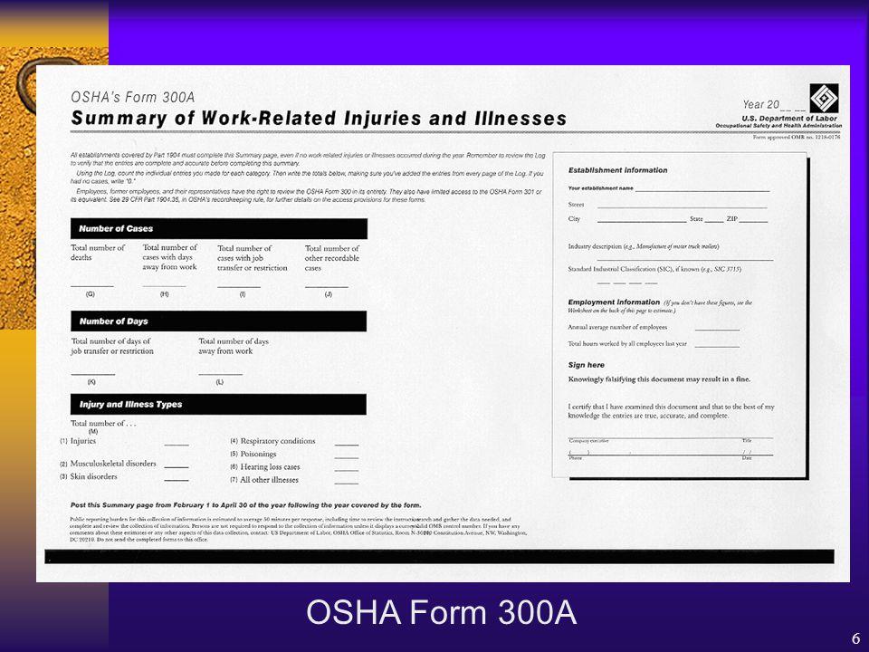 5 OSHA Form 301