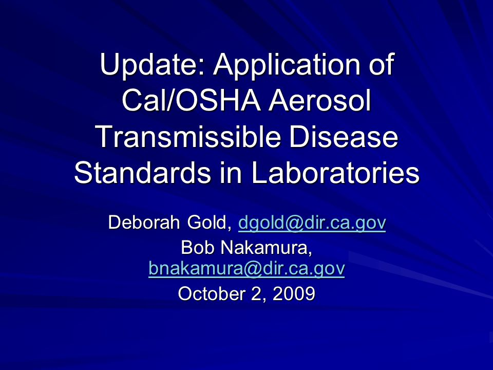 Aerosol Transmissible Pathogens Laboratory Listed in Appendix D –List derived from BMBL and HICPAC guidelines BMBL recommends BSL 3 or above Biosafety Officer recommends Novel or Unknown Pathogen
