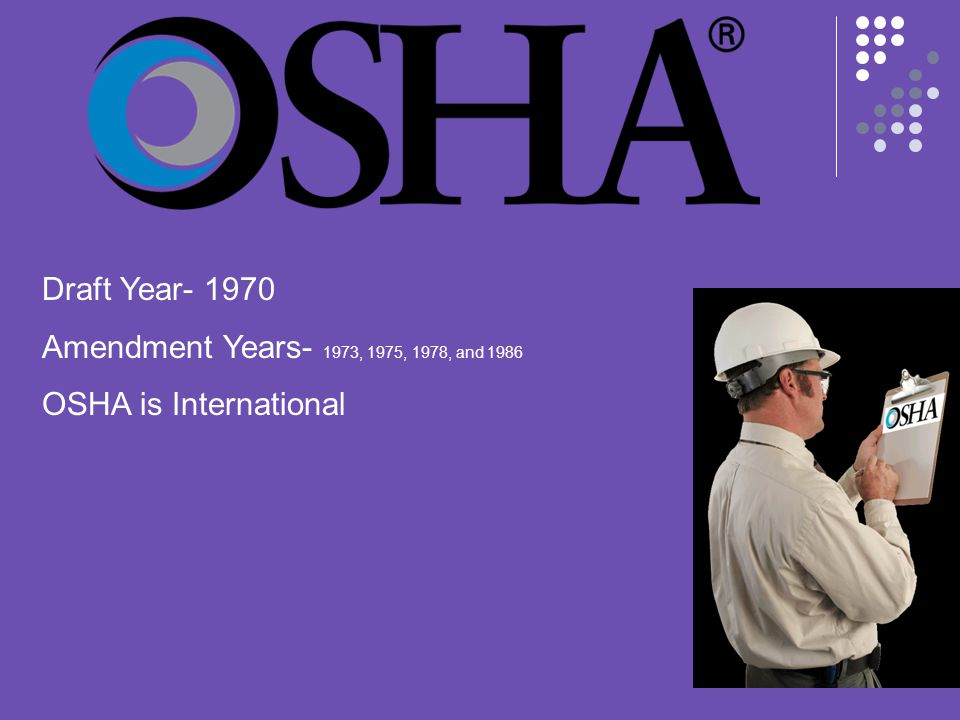 OSHA is a part of the Dept.