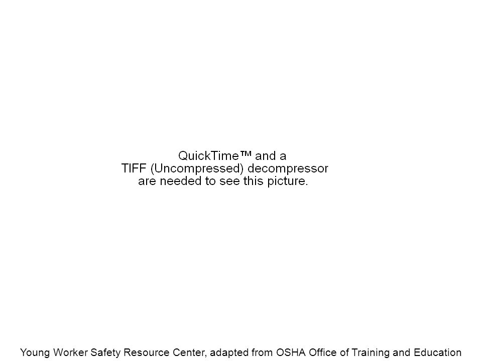 Young Worker Safety Resource Center, adapted from OSHA Office of Training and Education Equipment must be grounded if it's...