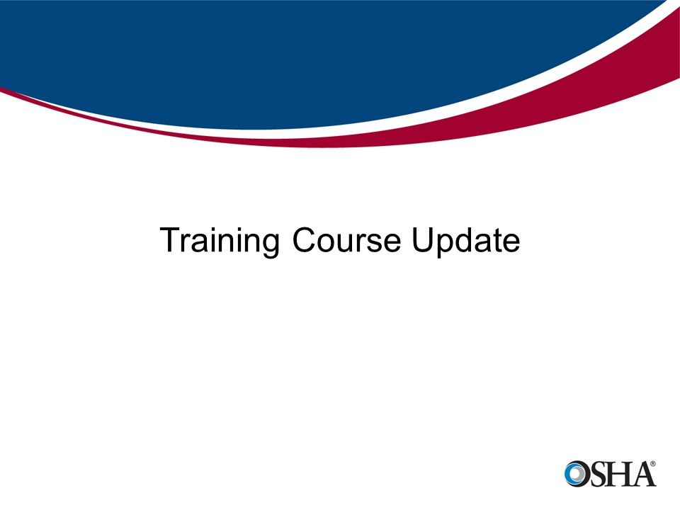 Training Course Update