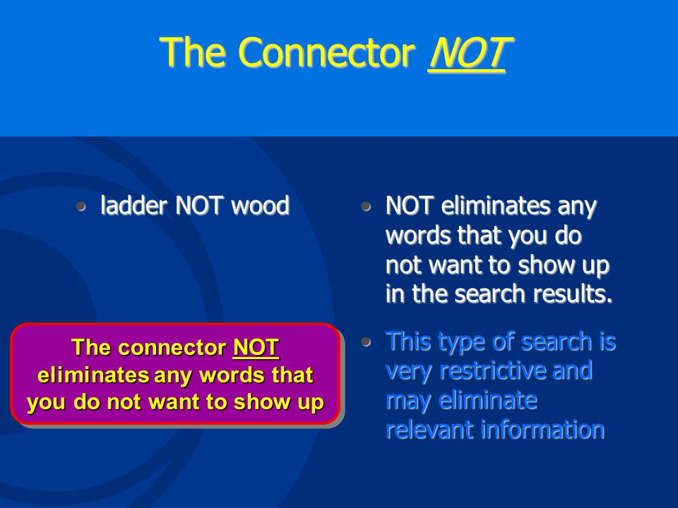 The Connector OR fatality OR deathfatality OR deathOR expands and broadens the search to allow either word in the results.