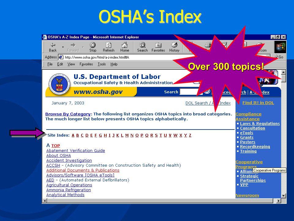 OSHA's Home Page
