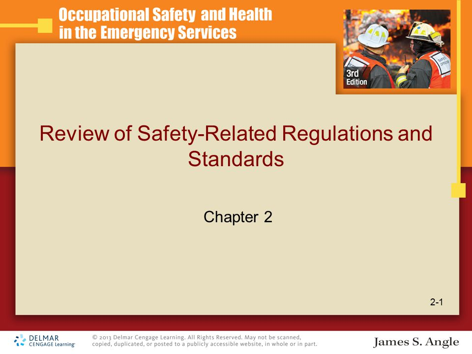 Review of Safety-Related Regulations and Standards 2-1 Chapter 2
