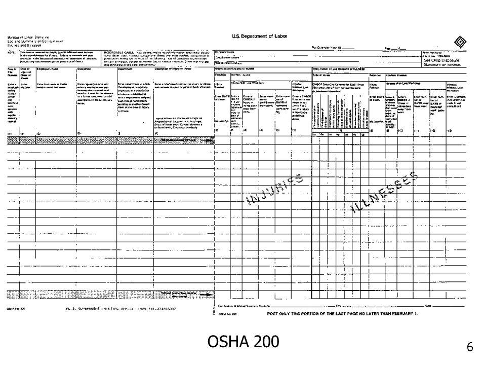 6 OSHA 200