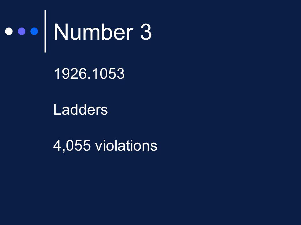 Number 3 1926.1053 Ladders 4,055 violations