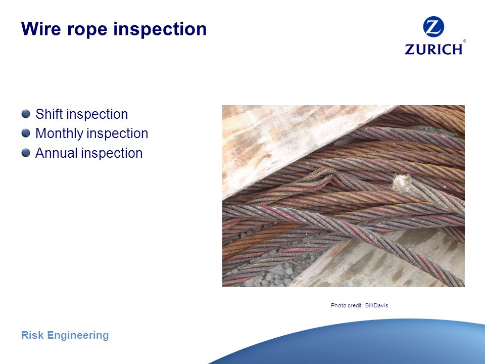 Risk Engineering Inspection criteria (continued) Severe service Shock load, corrosive atmosphere, etc.