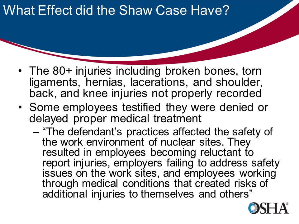 What Effect did the Shaw Case Have.