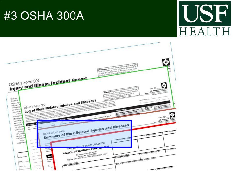 #3 OSHA 300A