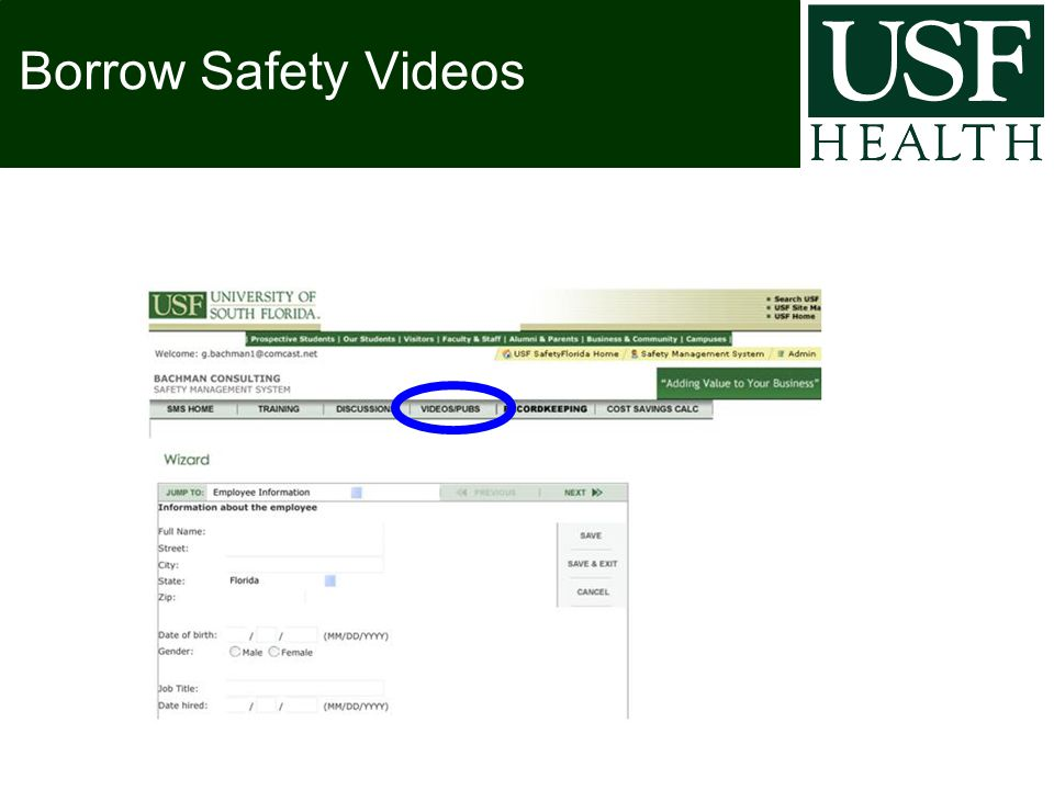 Borrow Safety Videos