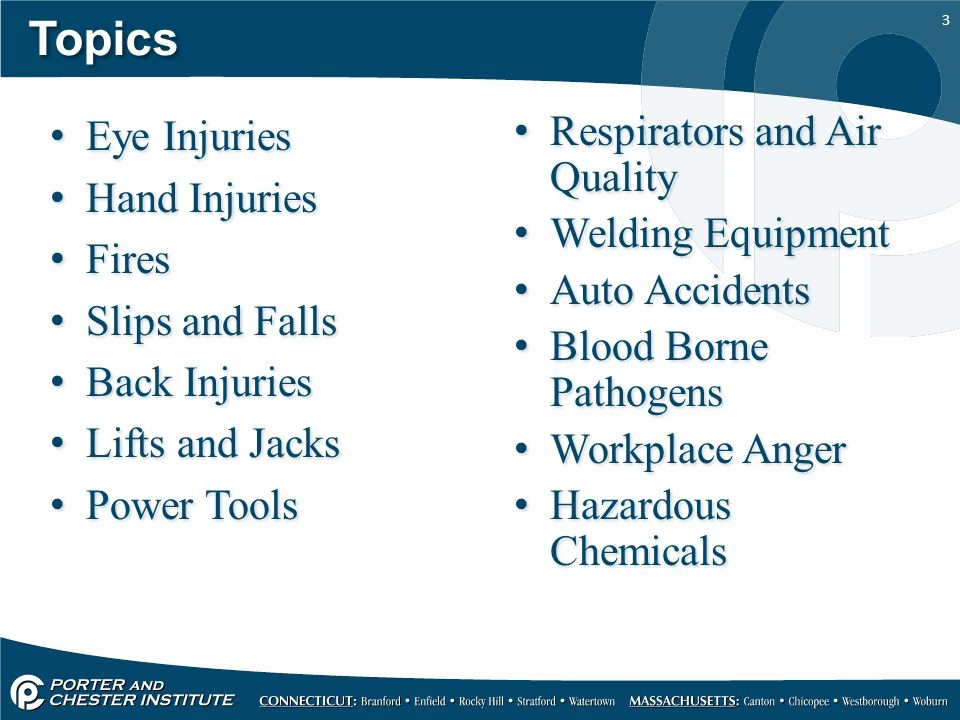 24 Risks and the gloves to protect against them Common Risk AreaRisk TypeType of Glove Hot metal, engine, exhaustImmediate InjuryLeather/Heavy Cotton Sharp Metal, Sheet metalImmediate InjuryLeather/Heavy Cotton Glass HandlingImmediate Injury Leather/Heavy Cotton Adhesive sticky bullets WeldingImmediate InjuryLeather/Cotton Flame Resistant New Oil or AntifreezeVariesNone or Nitrile/Latex Used Oil or AntifreezeLong termNitrile or Latex Degreasing SolventsLong termNitrile Thinners/Paint SolventsLong termNitrile BloodLong termNitrile
