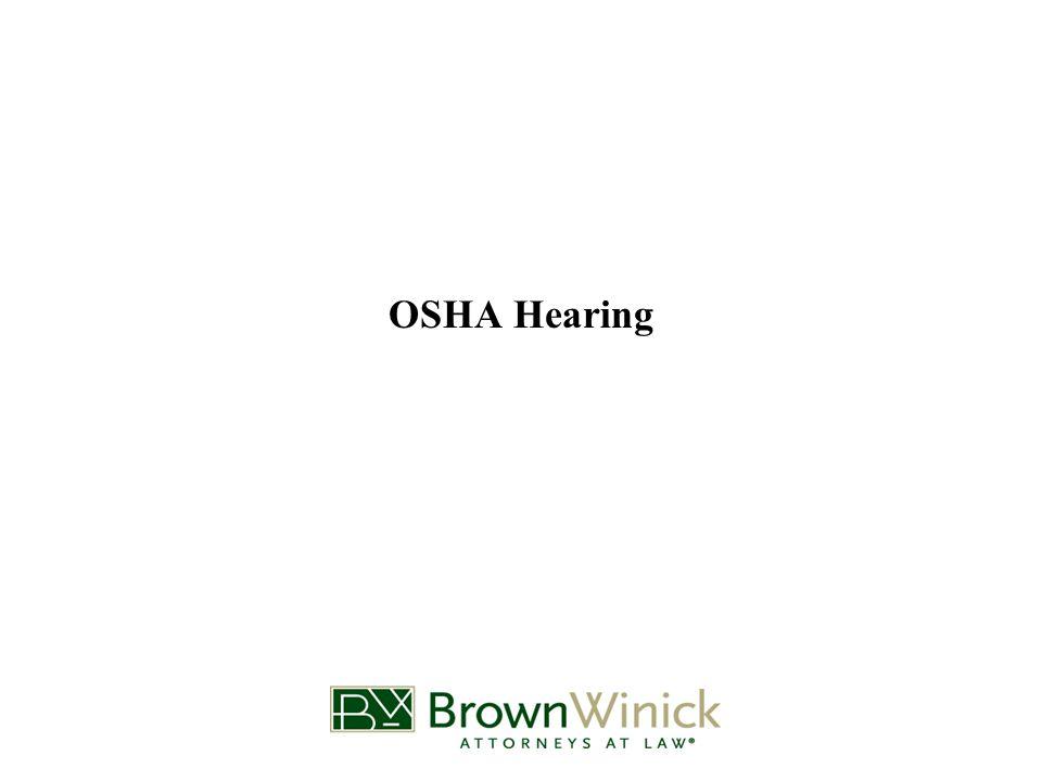 OSHA Hearing