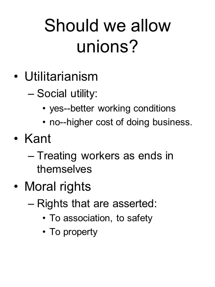 Should we allow unions.