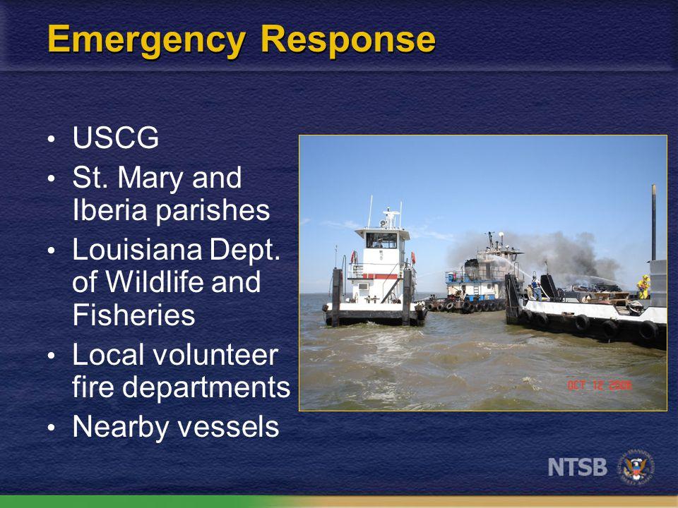Emergency Response USCG St. Mary and Iberia parishes Louisiana Dept.